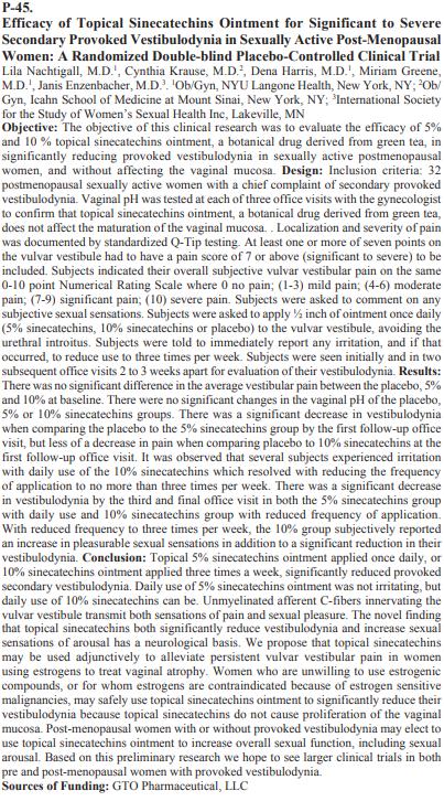 NAMS Abstract GTO Pharmaceutical